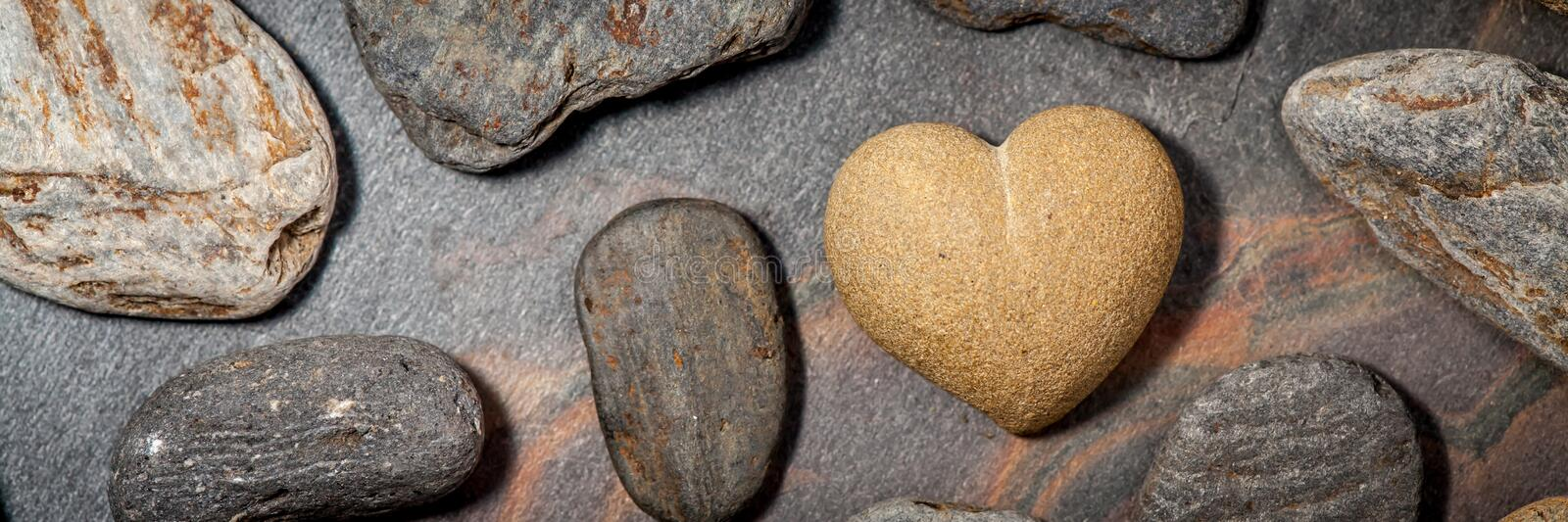 Brown Sandstone Heart royalty free stock photo
