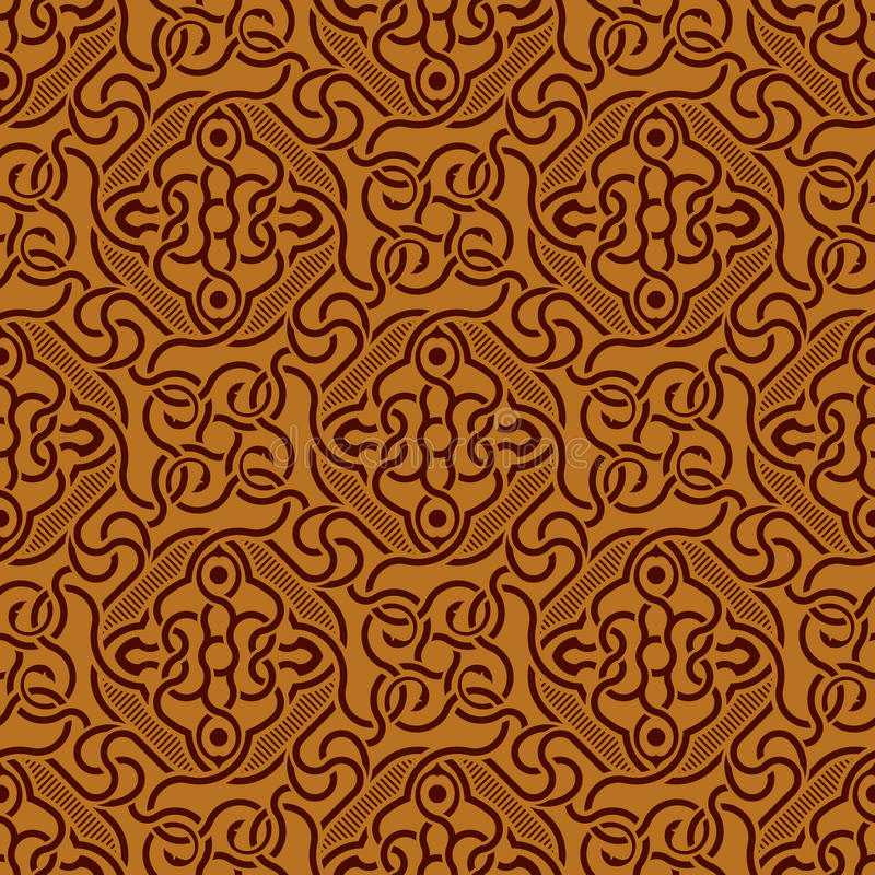 Download Brown seamless ornament stock vector. Image of royal - 13014591