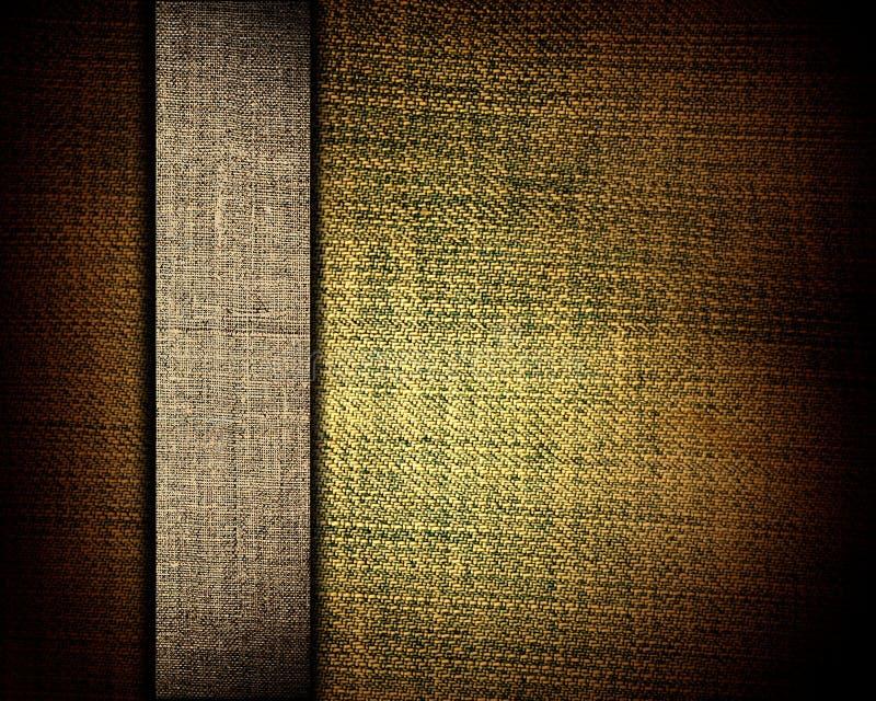Brown-Segeltuchbeschaffenheit und beige Streifen als Hintergrund lizenzfreie stockfotografie