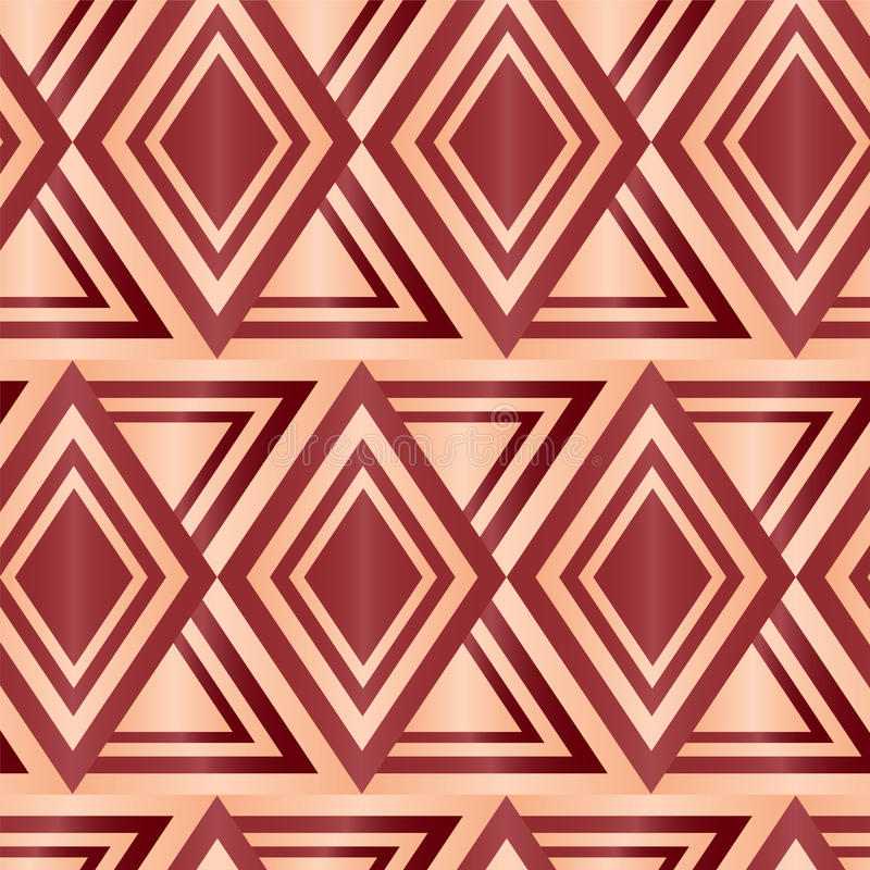 Brown sem emenda Diamond Geometric Abstract Background ilustração do vetor