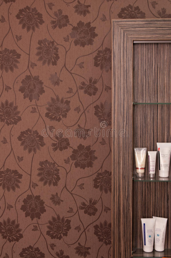 Download Brown shelves stock photo. Image of brown, wall, text - 26702102