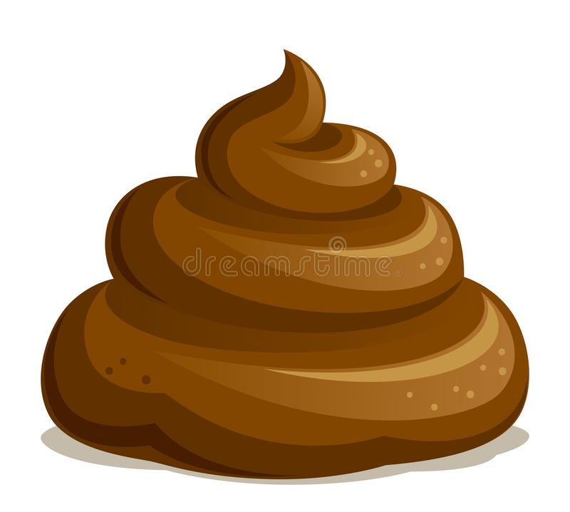 Brown shit. On a white background stock illustration