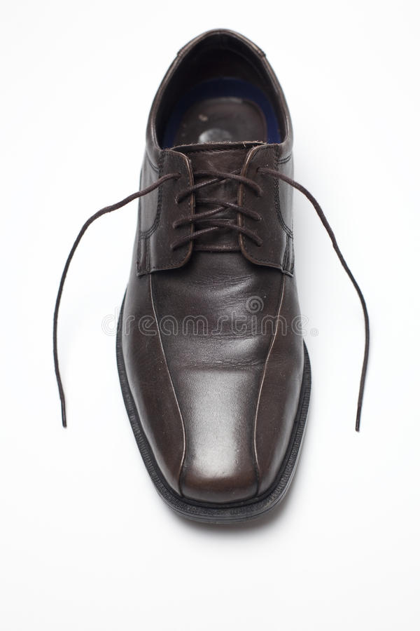Download Brown shoe stock image. Image of comfort, polished, white - 16840793
