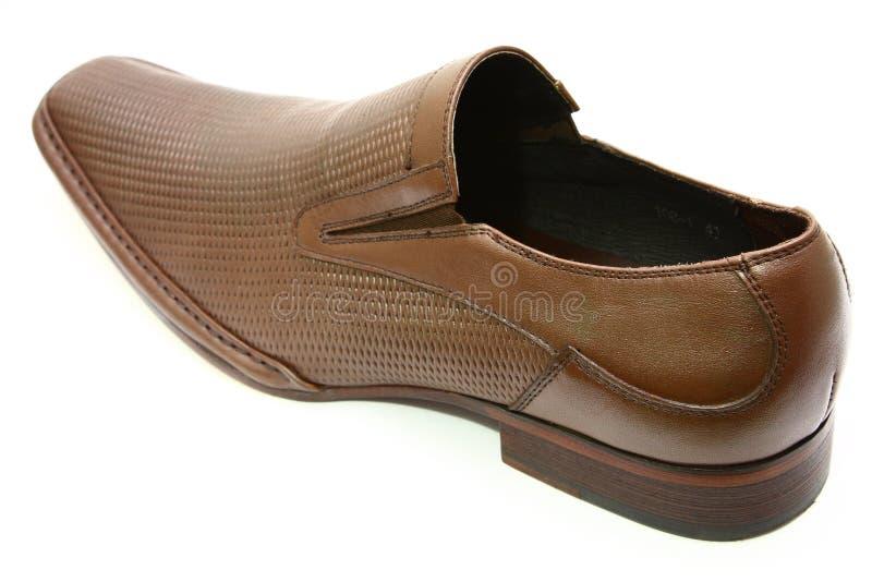 Brown shoe royalty free stock photo