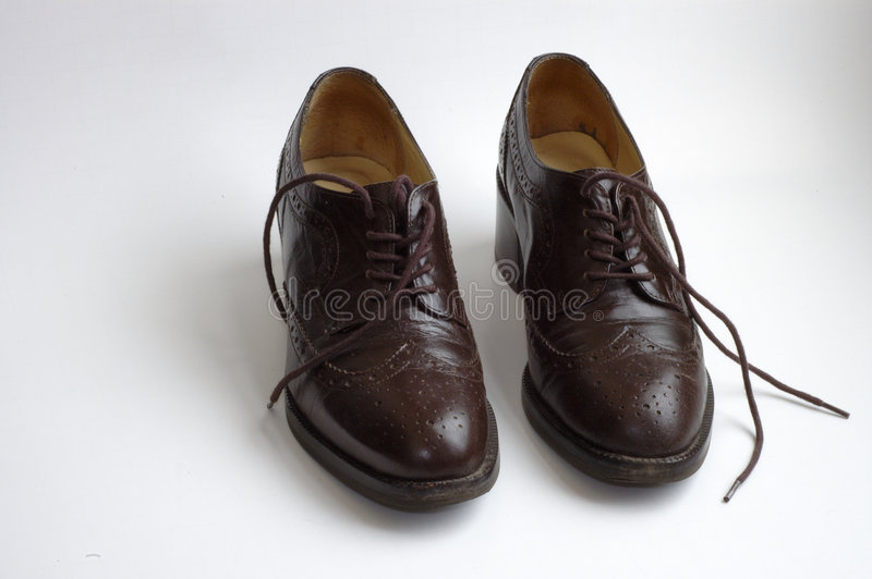 Download Brown Shoes stock image. Image of chocolate, brown, oxfords - 245703