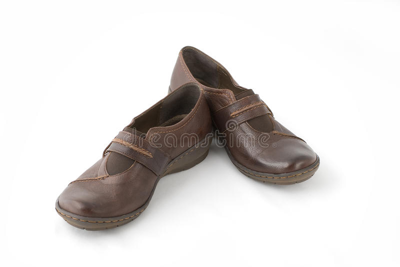 Download Brown Shoes For Walking stock image. Image of fashionable - 10376685