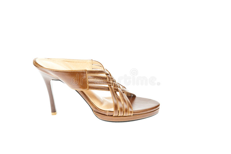 Download Brown Shoes, Weave High-heel Stock Image - Image: 20820105