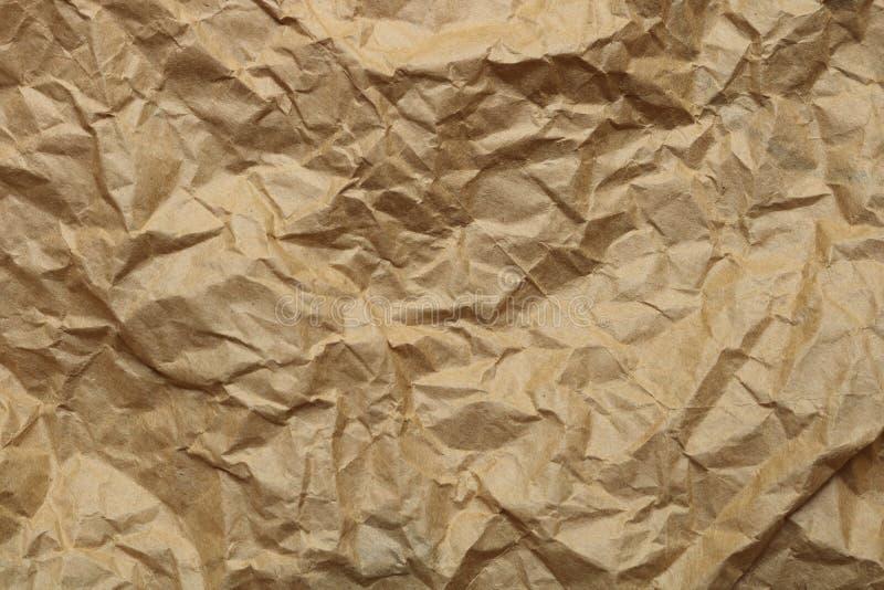 brown skrynklig paper textur fotografering för bildbyråer