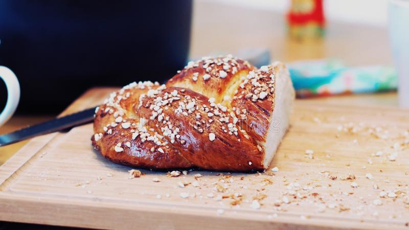 Brown Slice Bread royalty free stock image