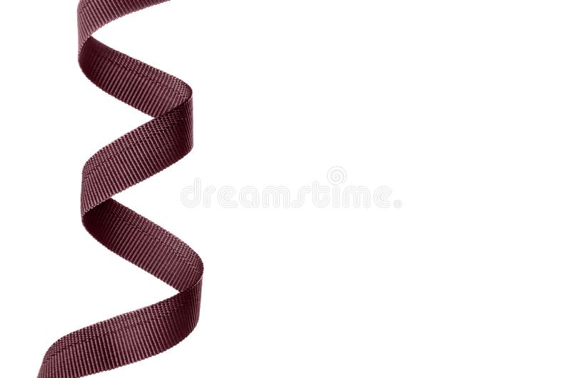 Brown sling belt. On white background isolation stock photo