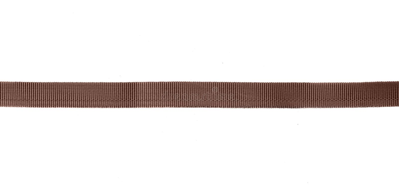 Brown sling belt. On white background isolation stock images