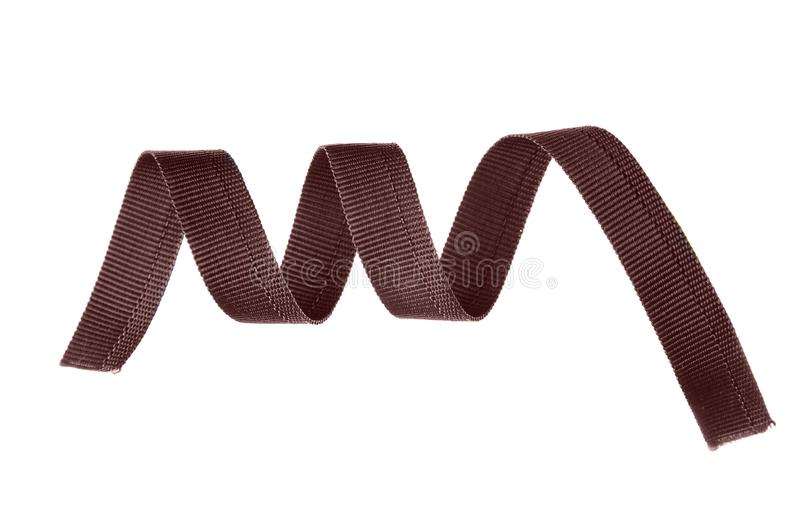 Brown sling belt. On white background isolation royalty free stock photography