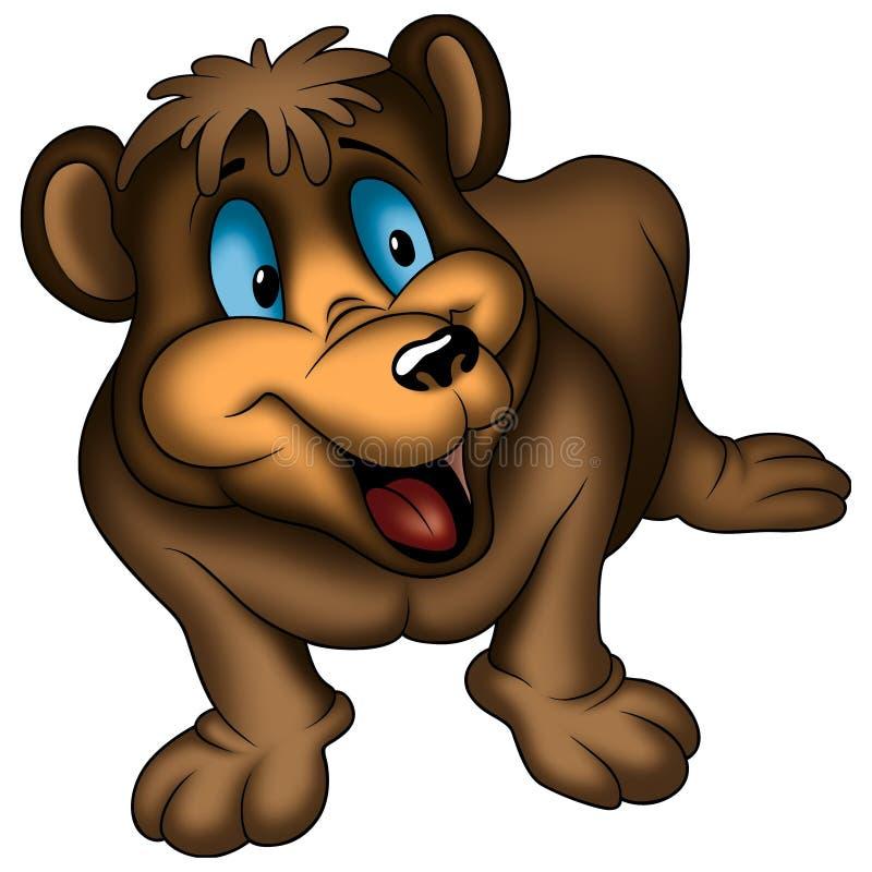 Brown smiling bear royalty free illustration