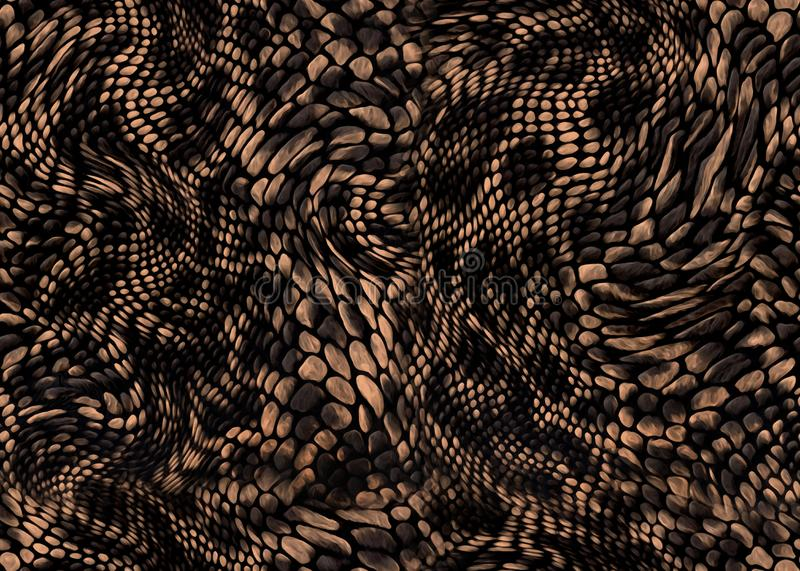 Snake skin textile print background. Brown snake skin pattern background royalty free stock photography