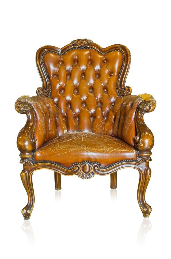 Brown-Sofa lizenzfreies stockfoto