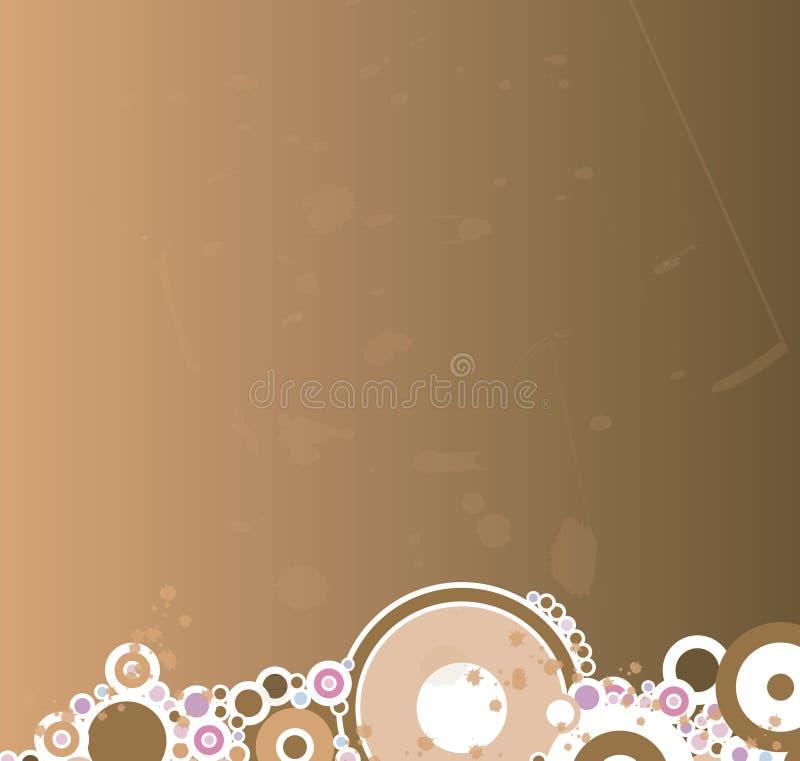 Brown splat circles stock illustration