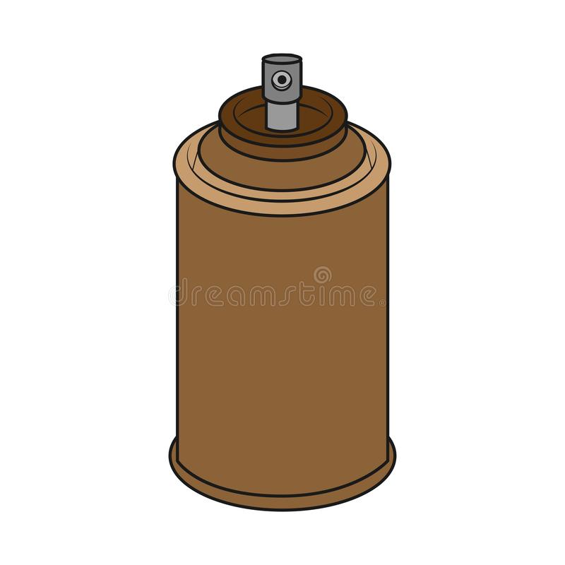 Brown spray can stock photo