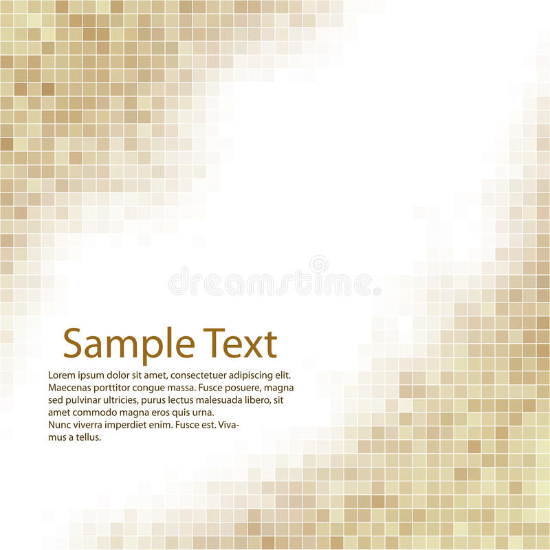 Brown square mosaic background royalty free illustration