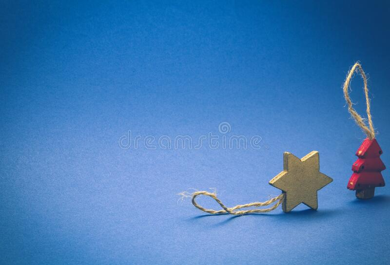 Brown Star and Red Tree Decoration royalty free stock photos