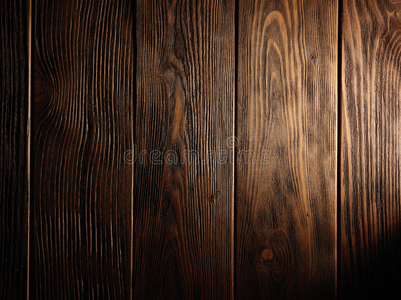 Brown stara drewniana tekstura z kępką obrazy stock