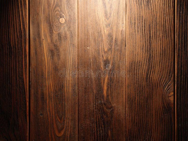 Brown stara drewniana tekstura z kępką zdjęcie royalty free