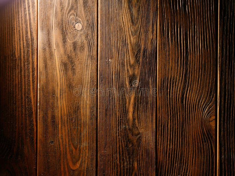 Brown stara drewniana tekstura z kępką zdjęcia stock