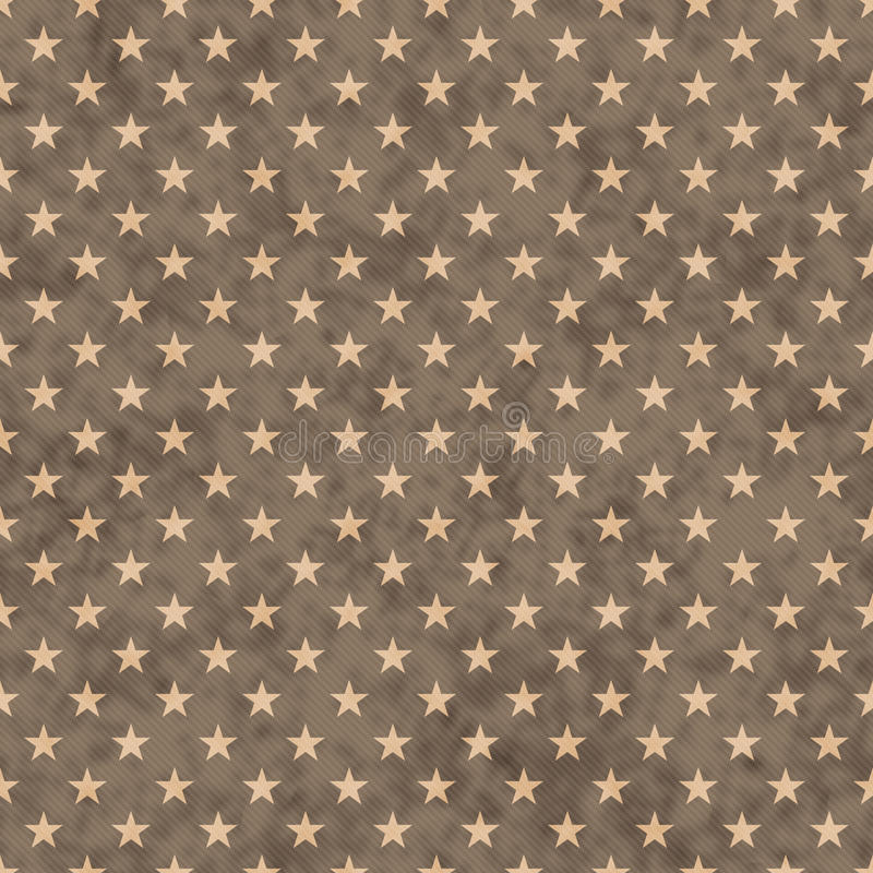 Brown stars seamless pattern background. Brown and beige stars seamless repeat pattern background with texture royalty free stock photo
