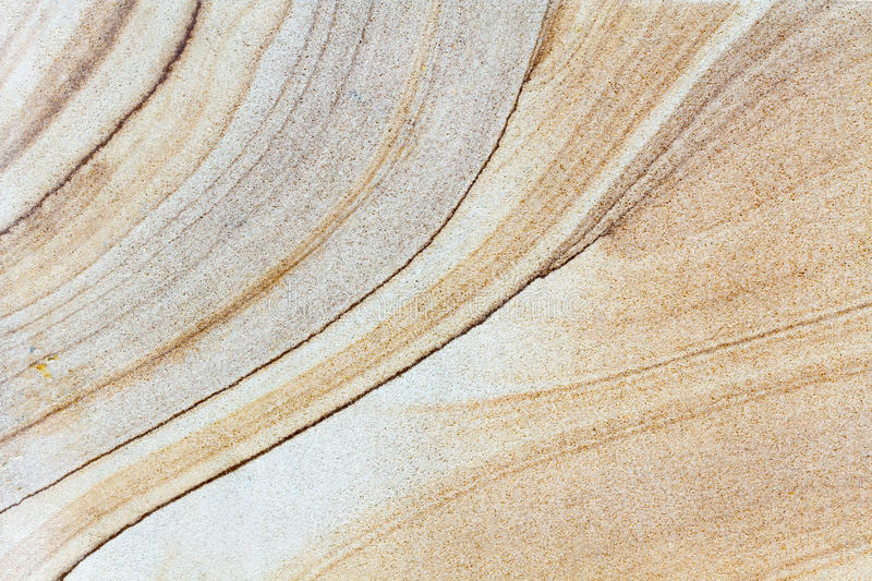 Brown Stone With Different Line Structures Flat Surface Stock Photo