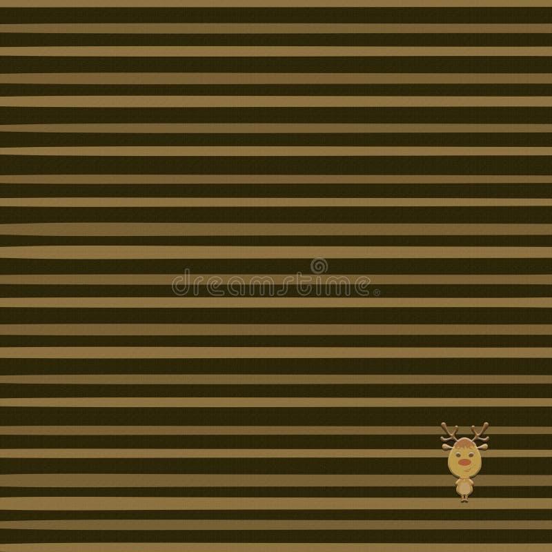 Brown streifte Hintergrund mit Gewebebeschaffenheit stock abbildung