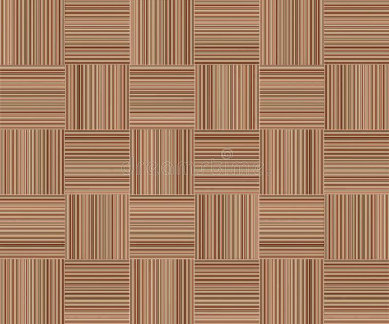 Brown striped background square cellular pattern texture wooden wicker canvas stock illustration