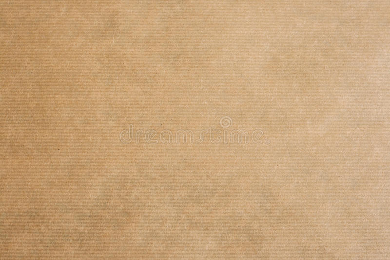 Brown Striped Kraft Paper Stock Photo. Image Of Ecologic