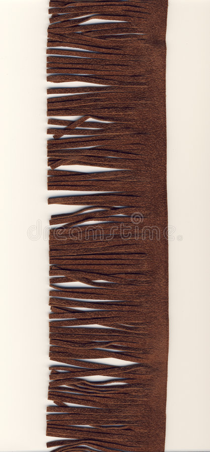 Brown suede fringe royalty free stock photography