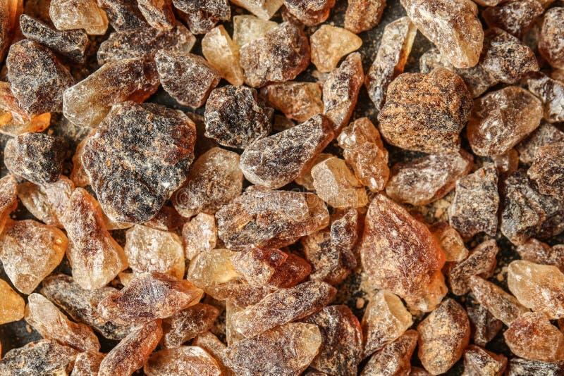 Brown sugar, closeup stock photos
