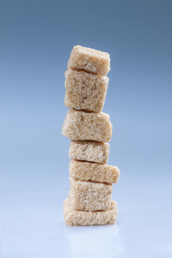 Brown Sugar Cubes Royalty Free Stock Images