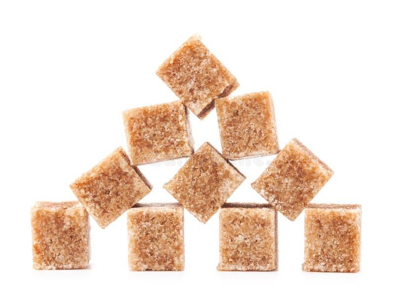 Brown Sugar Cubes imagens de stock royalty free