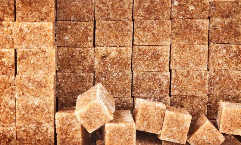 Brown Sugar Cubes foto de stock royalty free