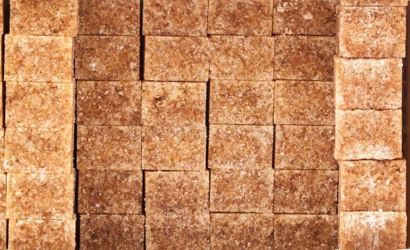 Brown Sugar Cubes fotografia de stock