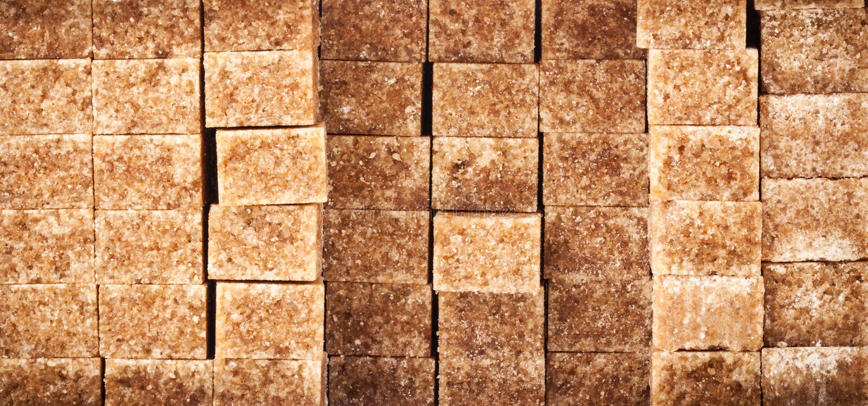 Brown Sugar Cubes imagens de stock