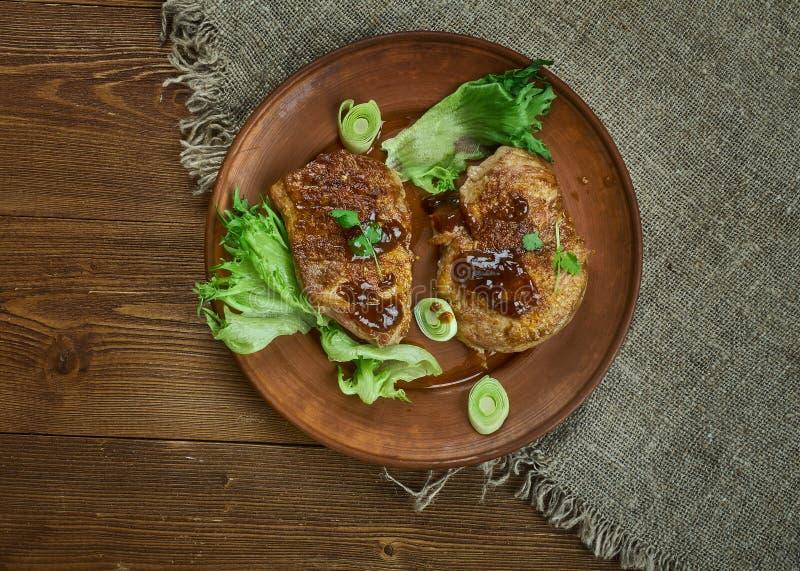 Brown Sugar Pork Chops fotos de stock royalty free
