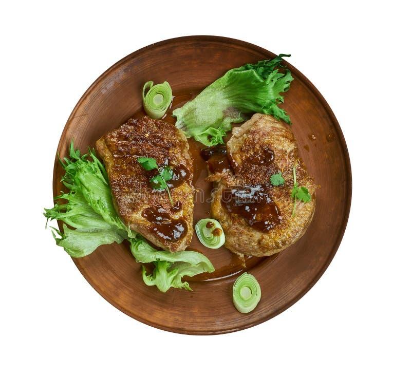 Brown Sugar Pork Chops imagens de stock royalty free