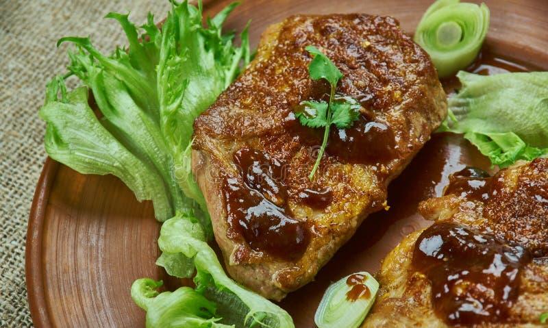 Brown Sugar Pork Chops fotos de stock