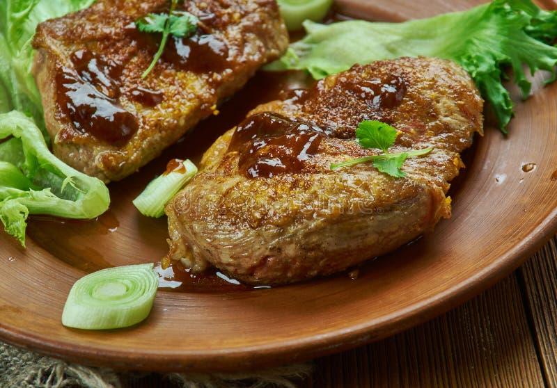 Brown Sugar Pork Chops foto de stock royalty free