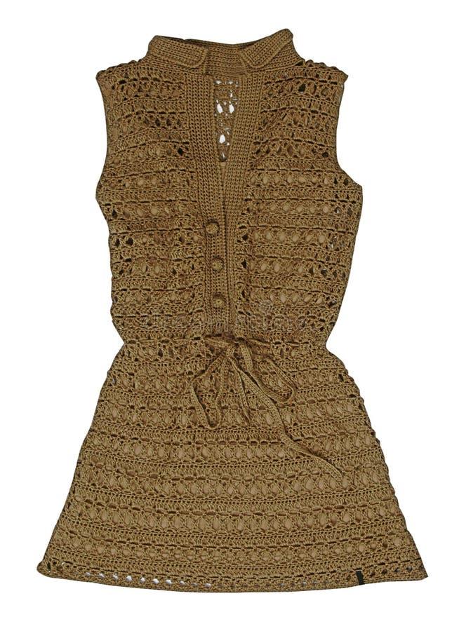 Brown suknia zdjęcie stock
