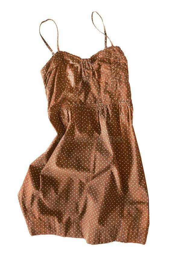 Brown sundress odizolowywający obrazy royalty free