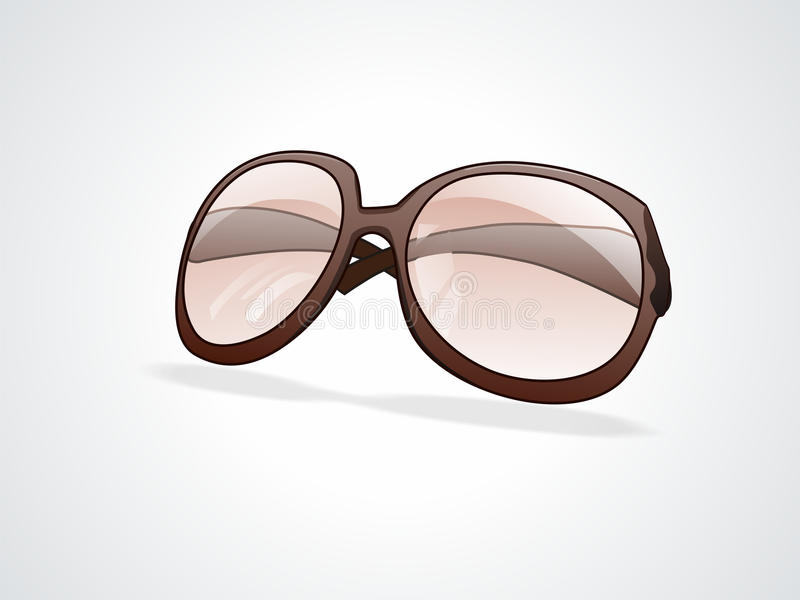 Brown sunglass over white background royalty free stock image