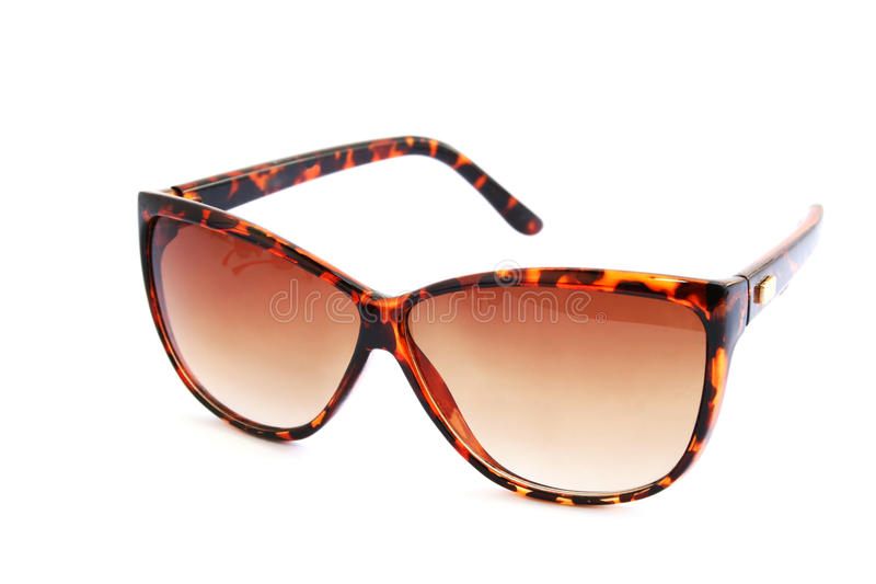 Brown sunglasses royalty free stock images