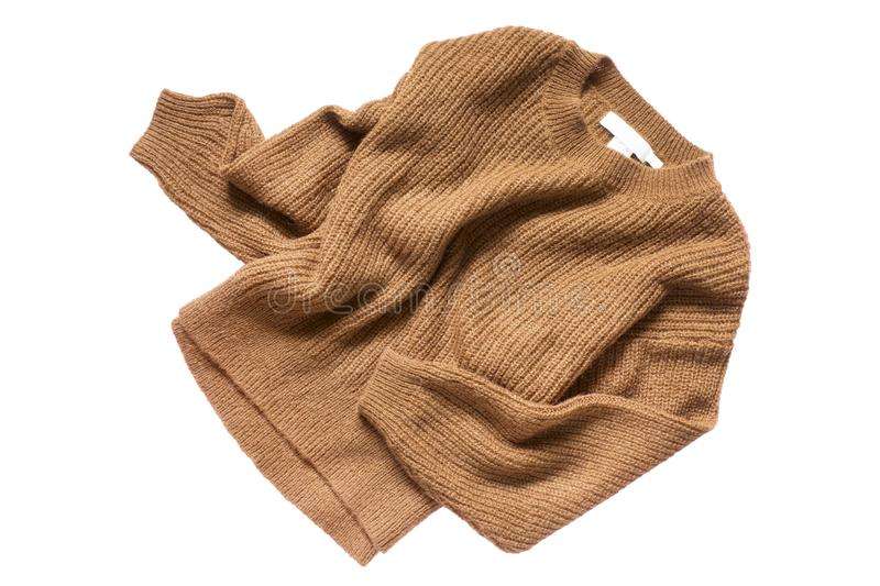 Brown sweater isolated stock photos