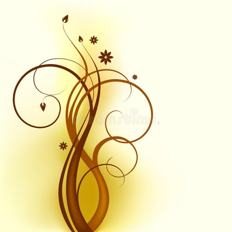 Brown_swirl_design απεικόνιση αποθεμάτων