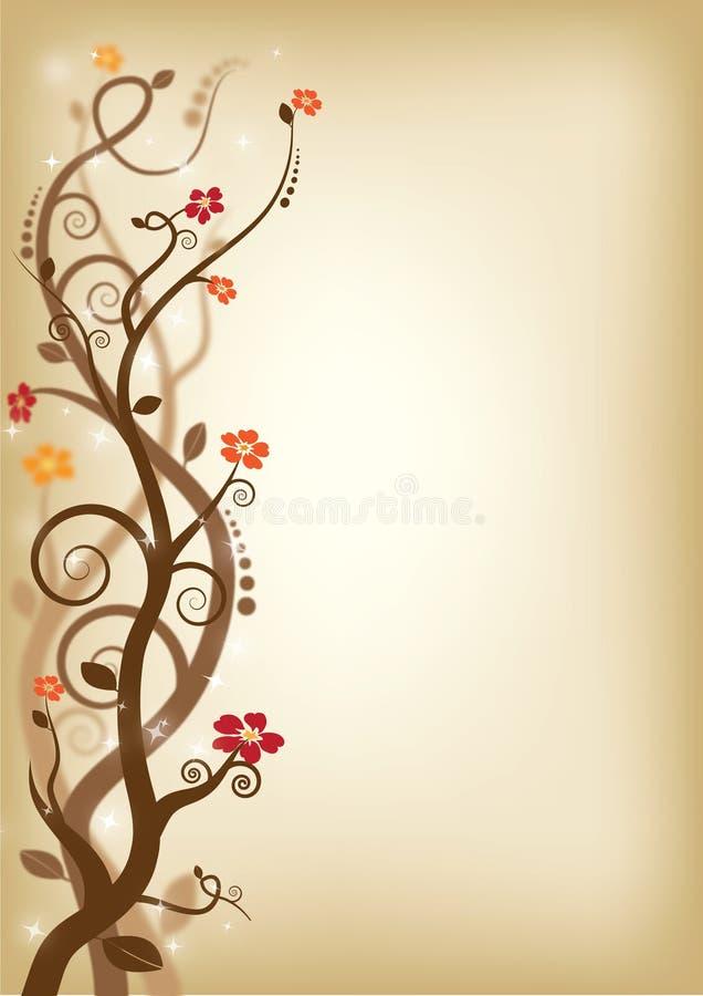 brown swirls vektor illustrationer