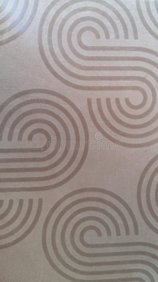Brown tablecloth texture, watermark pattern, stripes stock images